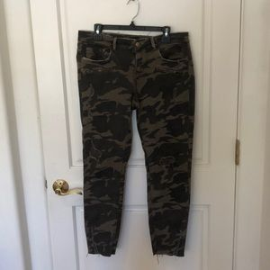 Zara ripped camp skinny jeans